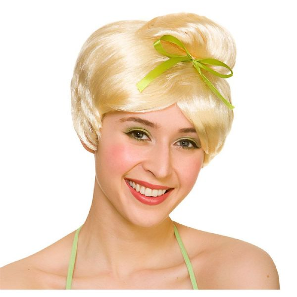 Adults Ladies Neverland Fairy Wig Accessory Tinkerbell Tink Fairytale Fancy Dress